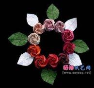 Belle Rose美丽玫瑰花折纸教程